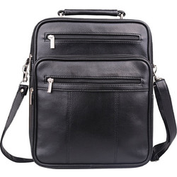 8ec44169bb Δερμάτινη Τσάντα Jack Chris(R) Mens Leather Cross Body Handbag Single-Shoulder  Briefcase Messenger