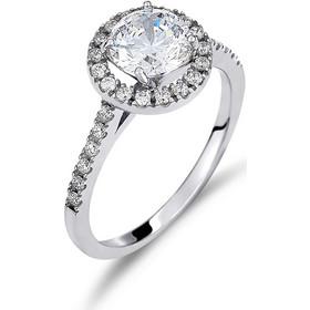 Μονόπετρο Δαχτυλίδι Σειρέ Λευκόχρυσο Με Ζιργκόν - 002505 90b8fc7d1e2