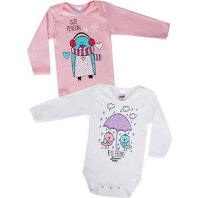 e2ded23517a Minerva Φορμάκι Baby Μμ Κορίτσι Cute Ever - Διπλό Πακέτο Πολύχρωμο