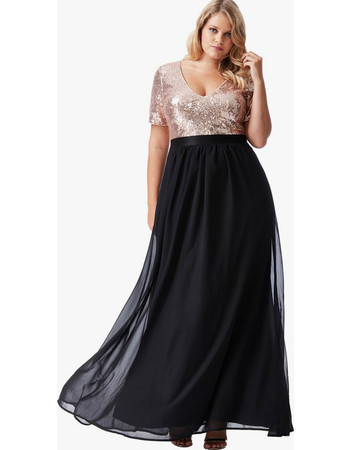 Φόρεμα Maxi με Χρυσή Παγιέτα 1b87cb15cf6