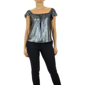 b3e7720fc489 γυναικεια ασημι μπλουζα - Τοπάκια