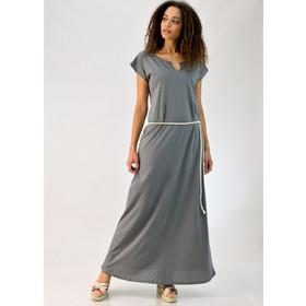 6e4236058f62 Μακρύ φόρεμα με ζώνη και ανοιχτό μπούστο