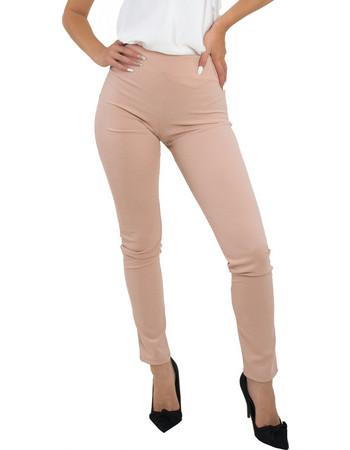 Γυναικείο παντελόνι κολάν ροζ μονόχρωμο 8125990C 718d57af446