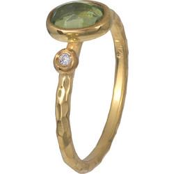 Δαχτυλίδι γυναικείο με peridot και διαμάντι Κ18 021080 021080 Χρυσός 18  Καράτια 6dd7a2bd592