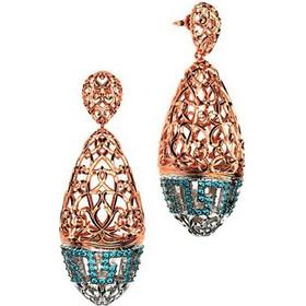 Εντυπωσιακό ζευγάρι σκουλαρίκια συλλογή Fabulous από ρόζ επιχρυσωμένο ασήμι  με πέτρες swarovski 77d5dda4a43
