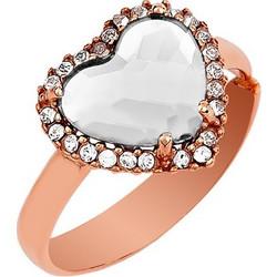 Δαχτυλίδι Συλλογή Love Καρδιά Από Ρόζ Επιχρυσωμένο Ασήμι Με Πέτρες Swarovski 0e9f2768dbb