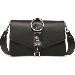 ICE γυναικείο mini bag με κρίκο και μεταλλικές λεπτομέρειες - 96F7247 6938  - Μαύρο b08c30e29d7