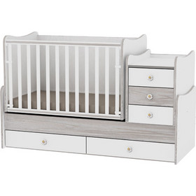e73fc3e5769 Κρεβάτι Maxi Plus Μετατρεπόμενο Πολυμορφικό White/Pink Crossline Lorelli  10150300032A (ΔΩΡΟ στρώμα Havana Lorelli