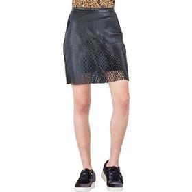 79a94f59705f Pop Copenhagen Pleather Net Skirt (1801-46-Black)