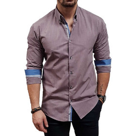 8eef56a8b57a Dash dot - 9058-02 - Lila - Slim Fit - Πουκάμισο. Dash   Dot