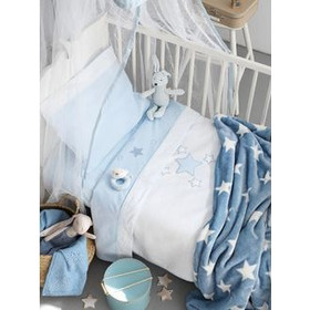 2c9f08076a7 Σετ Σεντονιών Μπεμπέ 3τμχ Palamaiki Baby Joia Collection BJ356/Ciel