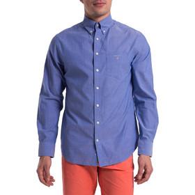 104b6281695e Gant ανδρικό μονόχρωμο πουκάμισο Broadcloth Regular - 3046400 - Μπλε