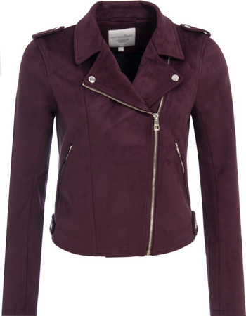 TOM TAILOR SUEDE BIKER JACKET ΜΠΟΥΦΑΝ ΓΥΝΑΙΚΕΙΟ 1005146-12826 (12826 DARK  WINE RED 2de2105fc5e