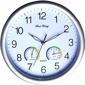 Ρολόι Τοίχου 30 cm με Υγρόμετρο και Θερμόμετρο GCC QU30R f2368dab263