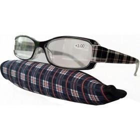 Γυαλιά Πρεσβυωπίας +3.00 (με μαύρο καρώ κοκάλινο σκελετό) 9b573bd073f