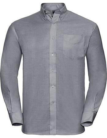 f3d5c4071907 Μακρυμάνικο πουκάμισο Russell R-932M-0 - Silver