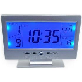 Ψηφιακό ρολόι - θερμόμετρο ανάβει αυτόματα η οθόνη όταν ανίχνευση ήχο ή  δόνηση 23731018537