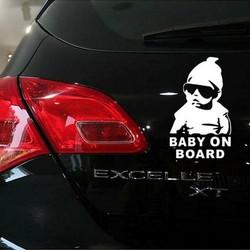 1d4b3ff5b1d Baby On Board Pattern Vinyl Car Sticker, Size: 20cm x 13cm(White)