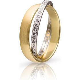 Ζευγάρι βέρες Maschio Femmina Eternity χρυσές και λευκόχρυσες G10382-YB-CZ 4e66c32612b