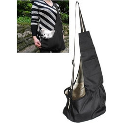 c7c8f8f9e6d1 Anself Medium Size Black Oxford Cloth Sling Pet Dog Cat Carrier Bag  (H9427B-M