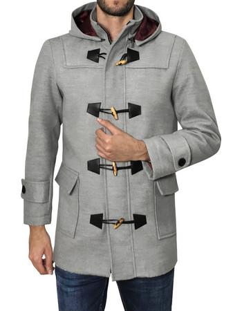 Ανδρικό παλτό MONTGOMERY - Γκρί Μελανζέ 8ca0257cb2f