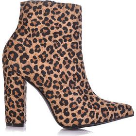 Μποτάκια λεοπάρ σουέτ μυτερά με χοντρό τακούνι 3816176leo. Tsoukalas Shoes 410c56392d2