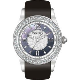 Paris Hilton Round Collection Black Leather Strap 138.4627.60 4274a29eece