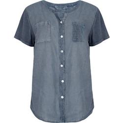 Κοντομάνικο πουκάμισο από λινό και βαμβάκι SD7844.3340+1 f4c498b3693