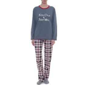 f04944957e3a Rachel χειμωνιάτικη γυναικεία πυτζάμα ραφ μπλούζα καρό παντελόνι 11511
