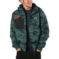 Emerson Detachable Hood Bomber Jacket 182.EM10.151-Green-Black 236725826b9