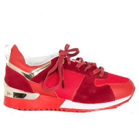 Γυναικεία κόκκινα Casual Sneakers με κορδόνια MB01W 90a8334b1f0