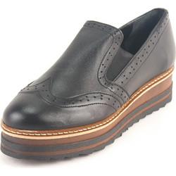 Γυναικεία Δερμάτινα Παπούτσια τύπου Oxford. Σχέδιο K200 Μαύρο 3a09acdab8a