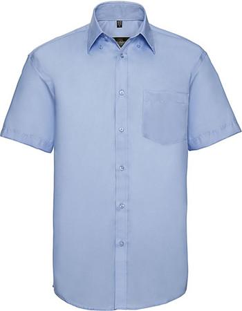 285ec45fdab5 Ανδρικό κοντομάνικο πουκάμισο Non-iron Russell R-957M-0 - Bright Sky