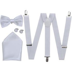 1ce46f144b5b Ανδρικά Αξεσουάρ Κοστουμιού Black Tie-Σμόκιν Τιράντες Παπιγιόν Λευκό
