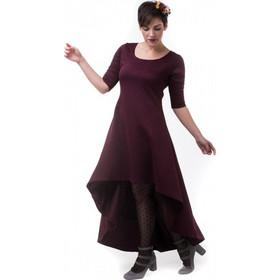 218ee6061256 Μπορντό Καπιτονέ Φόρεμα με Ουρά