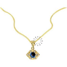 Κολιέ Ματάκι 14 Καράτια Χρυσό Με Ζιρκόν. Savvidis 66e0002fbb1