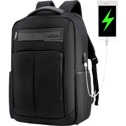 29d7b579464 ARCTIC HUNTER τσάντα πλάτης B00121C-BK, laptop, USB, αδιάβροχη, μαύρη  B00121C