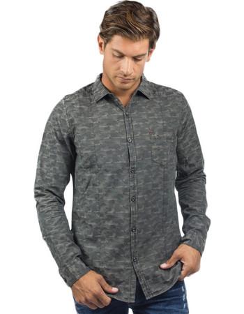 1245c758b117 Dstrezzed Camo Jaquard Shirt (303030)