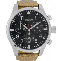 Oozoo Timepieces XXL Brown Leather Strap C6624 7cdd13b0c4d